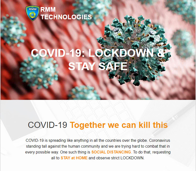 COVID-19 & RMM Business Continuity